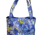 Purse in Blue Floral Fabric