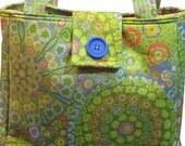 Kaffe Fasset Purse in Lime Green Floral
