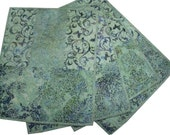 Placemats Quilted in SeaFoam Green Batik