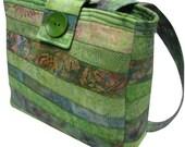 Purse in Green Batiks