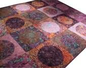 Throw Quilt in Purple Batiks