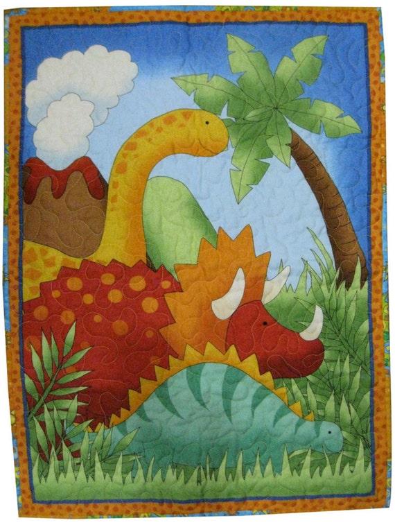 Dinosaur Quilt in Flannel