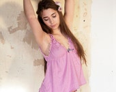 Sea Pink Babydoll & Panty Set -100% Organic cotton