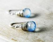 SALE 20% Off Spring Break Little Sky Earrings Baby Blue Chalcedony Sterling Silver