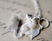 Winter Frost Necklace Silver Crystal Snowflake Pendant
