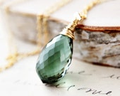 Forest Nymph Necklace Jewelry Emerald Green Woodland Pendant PoleStar