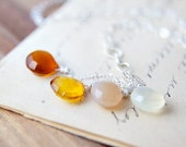 Jewelry  Chalcedonhy Necklace Gemstone Jewelry Ombre Spring Fashion Fall Fashion