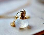 Moonstone Jewelry June Birthstone Rainbow Necklace