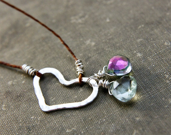 RESERVED Heart Necklace