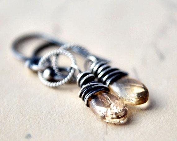 Imperial Topaz Earrings Gemstone December Birthstone