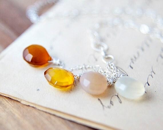 Jewelry  Chalcedonhy Necklace Gemstone Jewelry Ombre Spring Fashion Fall Fashion