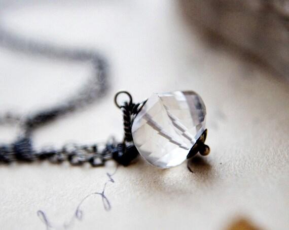 Crystal Quartz Necklace, Quartz Necklace, Crystal Necklace, Quartz Pendant, Crystal Pendant, Crystal Quartz, Gemstone Necklace, PoleStar