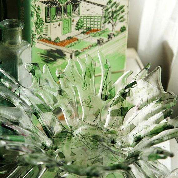 Fused Glass Bowl - Wildflower Garden
