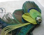 Gabriella Peacock Feather Fascinator - Made to Order