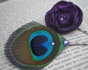 Peacock Poppy Purple Pin Set