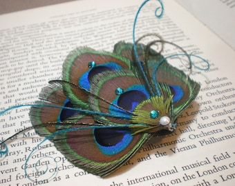 Special order for Ashleigh - Peacock Fascinator