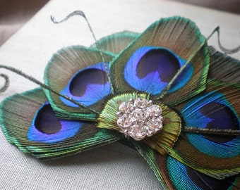 Felicia, Feather Hair Clip - Made to Order