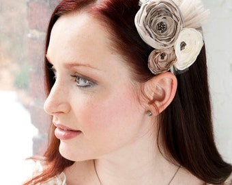 Flower Headband with Tulle - Made to order