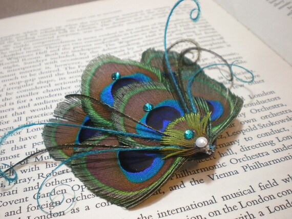 Peacock Fascinator - Made to Order