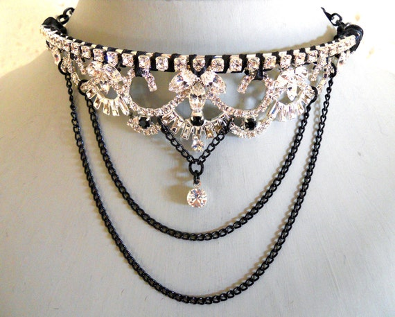Gothic Necklace assemblage choker- Queen of the Damned Prize Possession