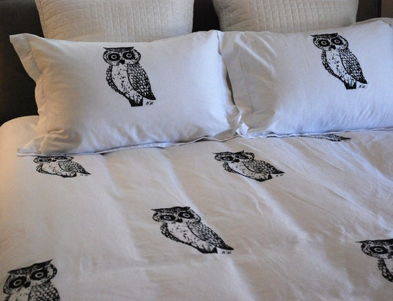 Owl Duvet Set F/Q or King Size