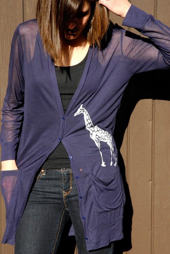 Giraffe Modal Silk Button Up Cover Up