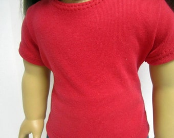 American Girl 18 inch Doll Fitted T-shirt in Red