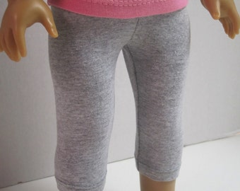American Girl Doll Crop Leggings in Grey by Crazy For Hue