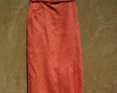 Vintage 1950s Evan Picone Coral Skirt
