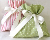 Charming Fabric Gift Bags - Set of 2 - Reduce Reuse Recycle