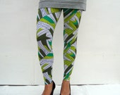 Reserved for Christina MASSIVE CLEARANCE SALE Grass Feathers Leggings available in xs,s,m,l,xl