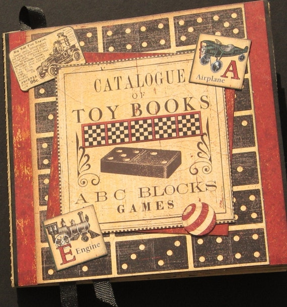 Vintage Inspired Boys Toys Catalogue- paper bag album