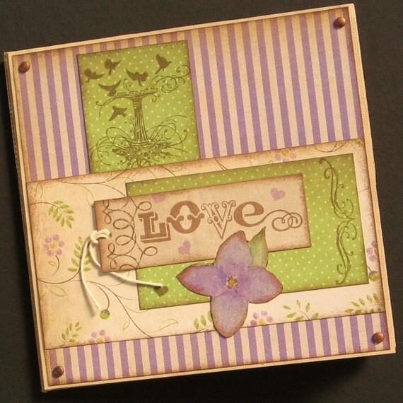 Lavender Love- 6x6 paper bag album