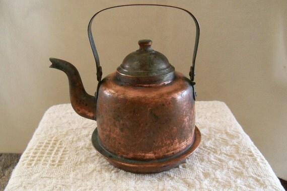 RESERVED Antique Copper Tea Kettle Tampere Finland