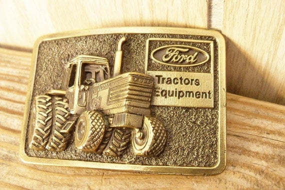 Tractor Supply Belts : Belt buckle ford tractor equipment brass great american