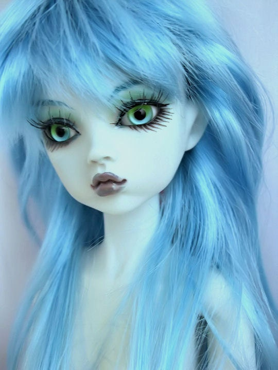 16 Mini Msd Dollfie Bjd Ooak Blue Elf Nabiya Fairy Doll