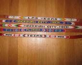 Vintage beaded belts