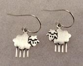 Tiny sheep earrings