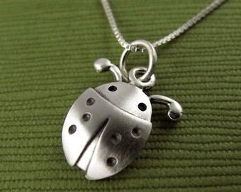 Tiny ladybug necklace / pendant