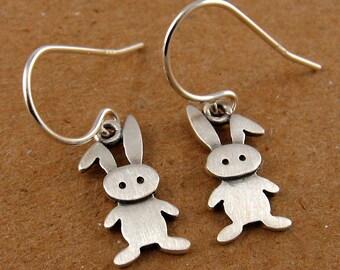 Tiny bunny earrings