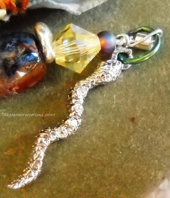 Snake Totem - Transformation, Mystery, Life Force, Wisdom- Talisman Handmade by Sagehealer on Etsy