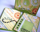 Happy Birthday Set of 3 Cards OOAK
