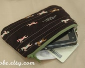 Very CUTE Horse Racing theme --- small purse
