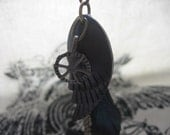 Wing Feather Steam Necklace