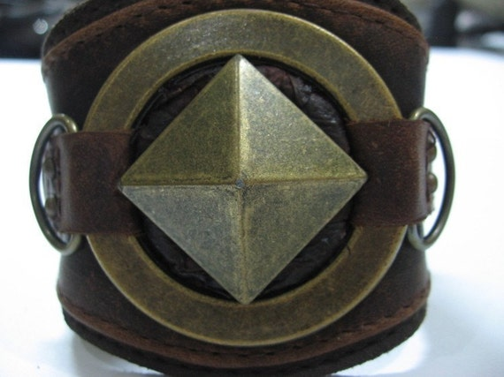 steam punk militia pyramid bracelet by jungle tribe
