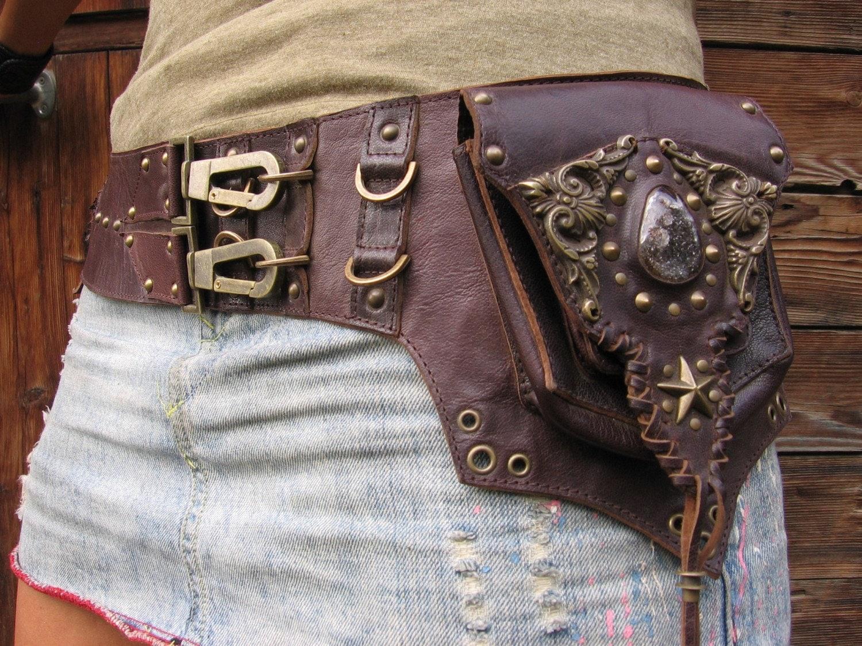the genesis leather belt hip bag