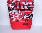 Insulated Lunch Bag Tote - Zip eco friendly Animal Fun by BonTons on Etsy