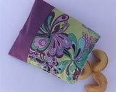 Reusable Snack Bag Sandwich Cloth - Purple Flower eco friendly by BonTons on Etsy