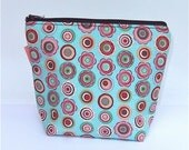 Insulated Lunch Bag Little - Zip Eco Friendly Retro Swirls by BonTonsGifts on Etsy