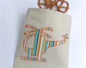 Reusable  Snack Bag Sandwich Organic Cloth - Helicopter Fly by BonTons on Etsy